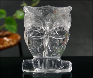 彫刻(フクロウ-水晶10)