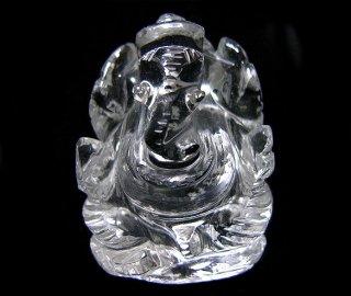 彫刻(ガネーシャ-水晶2)