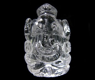 彫刻(ガネーシャ-水晶3)