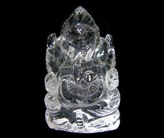 彫刻(ガネーシャ-水晶4)