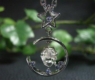 ペンダントトップ(ハーキマーダイヤモンド&タンザナイト6)