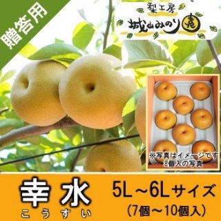 【N-A5 幸水 5L・6Lサイズ \4000】 城山みのり園 甘くて大きい梨 千葉 産直