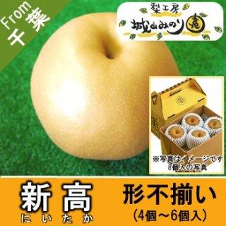 【N-J1 新高 形不揃い \1500】 ご自宅用 農家 比較的日持ちする梨