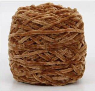 Chenille velvet yarn キャラメル