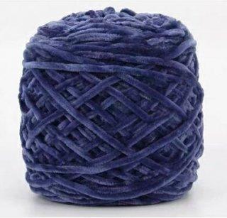 Chenille velvet yarn ネイビー