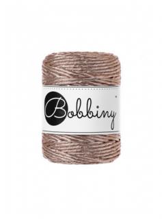 Bobbiny マクラメ シングル(3mm)メタリックシャンパン