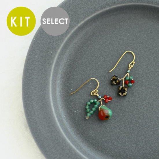 《Special》 フルーツイヤリング・ピアス (レッドバートレット) KIT・完成品