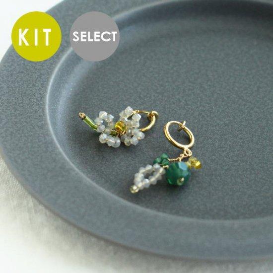 《Special》 フルーツイヤリング・ピアス (ライムと白い花) KIT・完成品