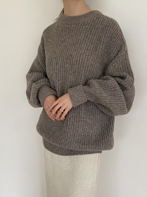 RIBED WOOL SWEATER