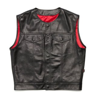 415 Leather Club Style Snap Vest (No Collar)<img class='new_mark_img2' src='//img.shop-pro.jp/img/new/icons14.gif' style='border:none;display:inline;margin:0px;padding:0px;width:auto;' />