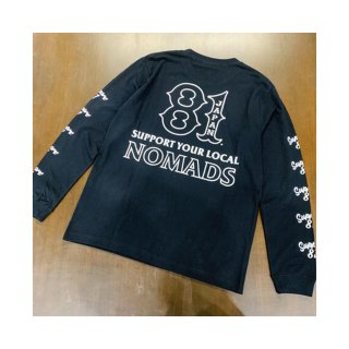 SUPPORT 81 SYL NOMADS JAPAN L/S Tee_Black