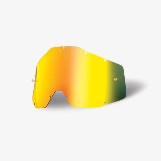 100% RACECRAFT / ACCURI / STRATA用リペアレンズ ゴールドミラー