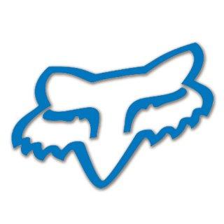FOX ヘッドダイカットステッカー ブルー/10cm