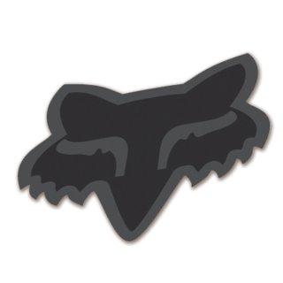 FOX ヘッドステッカー マットブラック/10cm