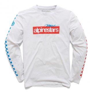 ALPINESTARS  アゲイン プレミアム L/S Tシャツ ホワイト