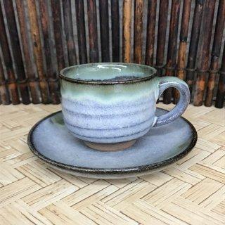 【松代焼】コーヒーカップ&ソーサー(大) 【個別配送商品】