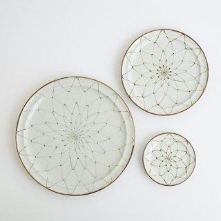 オリーブリーフ リム丸プレート(3サイズ)