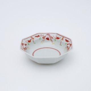 赤絵万暦 リム八角小鉢