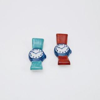 時計 箸置き(2色)