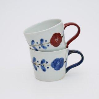 さび花つなぎ カフェマグカップ(青・赤)