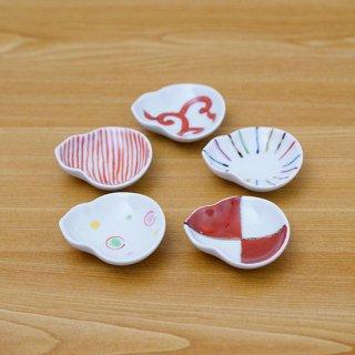 瓢型豆皿(赤絵5柄)