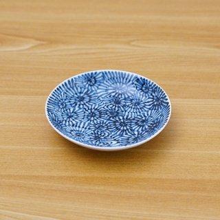 染付蛸唐草三.五多用皿