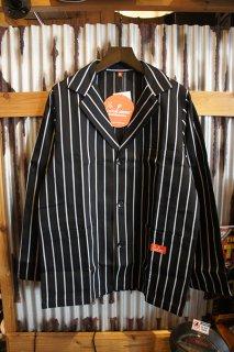Cookman Lab.Jacket (「Stripe」 Black)