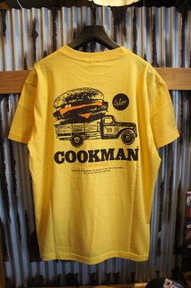 Cookman T-shirts 「Burger truck」 (YELLOW)