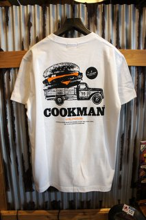 Cookman T-shirts 「Burger truck」 (WHITE)