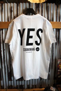 Cookman T-shirts 「YES」 (WHITE)