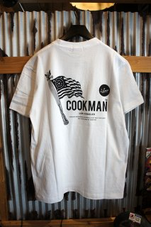 Cookman T-shirts 「Flag」 (WHITE)