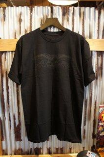 ANTIHERO BASIC EAGLE S/S T-Shirt (BLACK w/ BLACK Print)