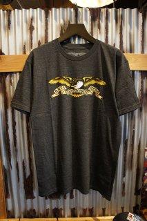 ANTIHERO EAGLE S/S T-Shirt (CHARCOAL HEAHTER)