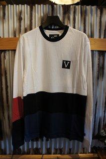 VANS CHIMA COLORBLOCK LS T-SHIRT (WHITE)