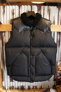 Rocky Mountain Featherbed Co. CHRISTY DOWN VEST (ALL BLACK)