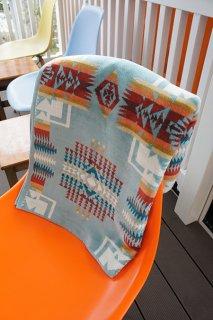 PENDLETON lconic Jacquard Bath Towels XB218 (Chief Joseph Aqua)