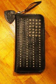 HTC BLACK #US Flag Zipper Long Wallet  (BLACK)