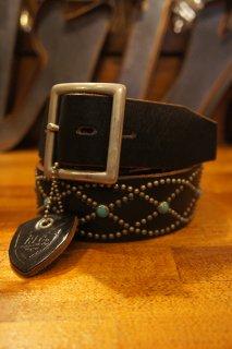 HTC BLACK #551 Turquoise Vintage Studs Belt (BLACK)