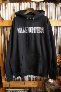 Gnarhunters College Outline Hoodie (BLACK)