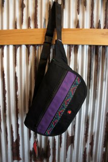BUMBAG Java Folder Canvan (Black w/Ribbon)