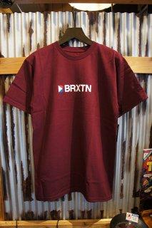 BRIXTON STOWELL IV S/S STANDARD TEE (BURGUNDY)