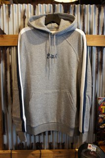 BRIXTON STITH VI HOOD FLEECE (HEATHER GREY)