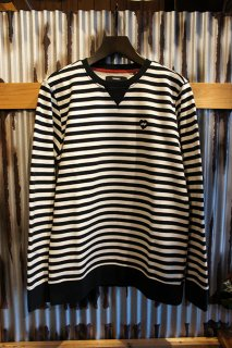 BANKS HEART STRIPES FLEECE (DIRTY BLACK)