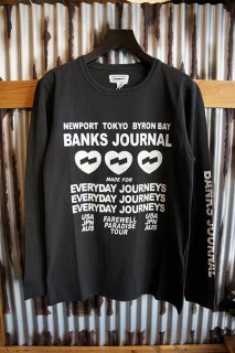 BANKS JOURNAL LOVE STONED L/S TEE SHIRT (DIRTY BLACK)