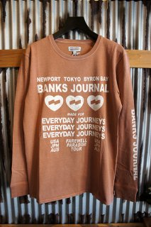 BANKS JOURNAL LOVE STONED L/S TEE SHIRT (FADED PEACH)