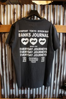 BANKS JOURNAL LOVE STONED TEE SHIRT (DIRTY BLACK)