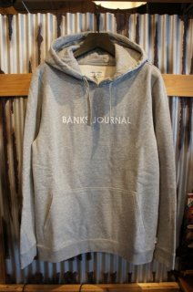 BANKS JOURNAL LABEL PULLOVER FLEECE (HEATHER GREY)