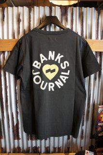 BANKS JOURNAL HEART RINGS TEE SHIRT (DIRTY BLACK)