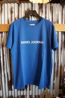 BANKS JOURNAL LABEL TEE SHIRT (COBALT)