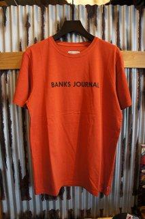 BANKS JOURNAL LABEL TEE SHIRT (BURNT ORANGE)